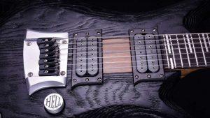 "V7 - 27,6"" 7-String Bariton Gitarren - Blackburst - Schlagbrett"