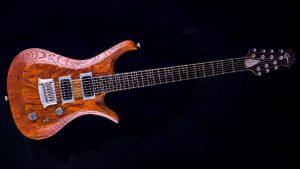 """V7 - 29"""" 7-String Gitarre Bariton - Tobaccoburst - Frontansicht"""