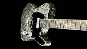 Versatile - Silver Camo - T-Style Custom Guitars - Single Cutaway