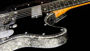 Versatile - T-Style Custom Guitars - Silver Camo - Body Cutaway