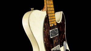 Versatile T-Style Gitarre - Vintage White - Seitenansicht Schlagbrett