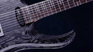 """Zodiac 7 - 30,8"""" 7-String Bariton Gitarre - Blackburst (ext. range) - Griffbrett"""