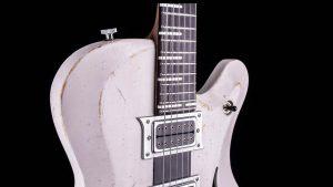 Breed - Moderne Oldschool Gitarre - Custom Guitar - Schlagbrett + Finish Players White