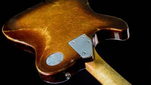 Versatile Golden Bee T-Style Custom Guitar - Backplate