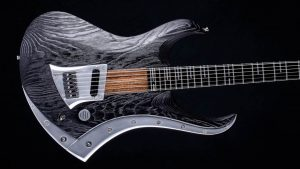 "Zodiac Excalibur - 29"" Bariton Gitarre - Blackburst​ - Body mit Alu-Inlay"