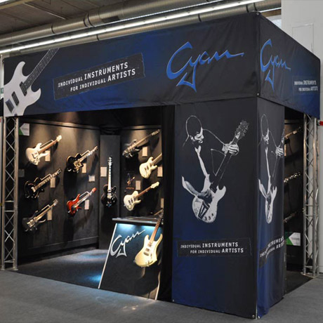 Cyanguitars Messestand - Gitarren Shop