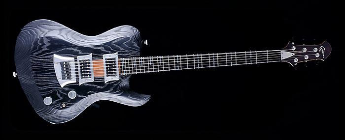 Hellcaster Bariton - Blackburst | Cyan Guitars