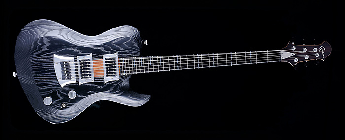 Hellcaster Rock Guitar - Blackburst | Cyan Guitars