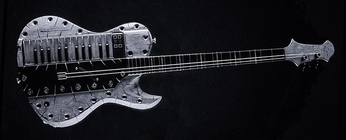 Hellcaster Bariton Keytar NORA - Gared Dirge - Guitar Gallery