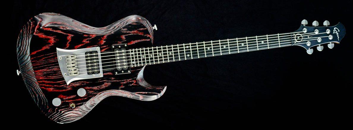 Hellcaster - Redburst - Custom Guitar | Cyanguitars