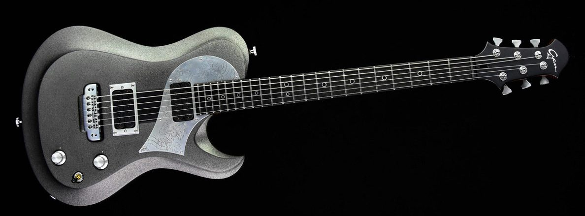 Ultimate Silver Dragon im Custom Gitarren Shop
