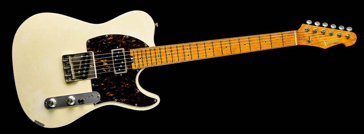 Versatile Vintage White T-Style Gitarre im Custom Gitarren Shop