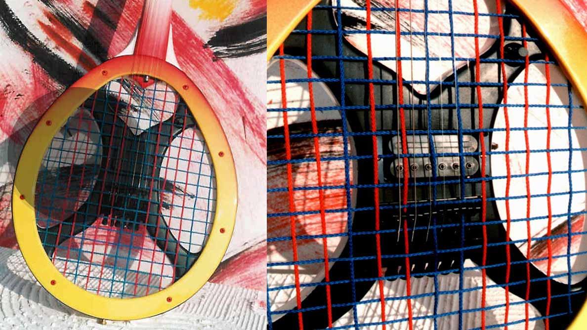 Farin Urlaub Custom Guitar Gallery - Top Spin - Tennisschläger