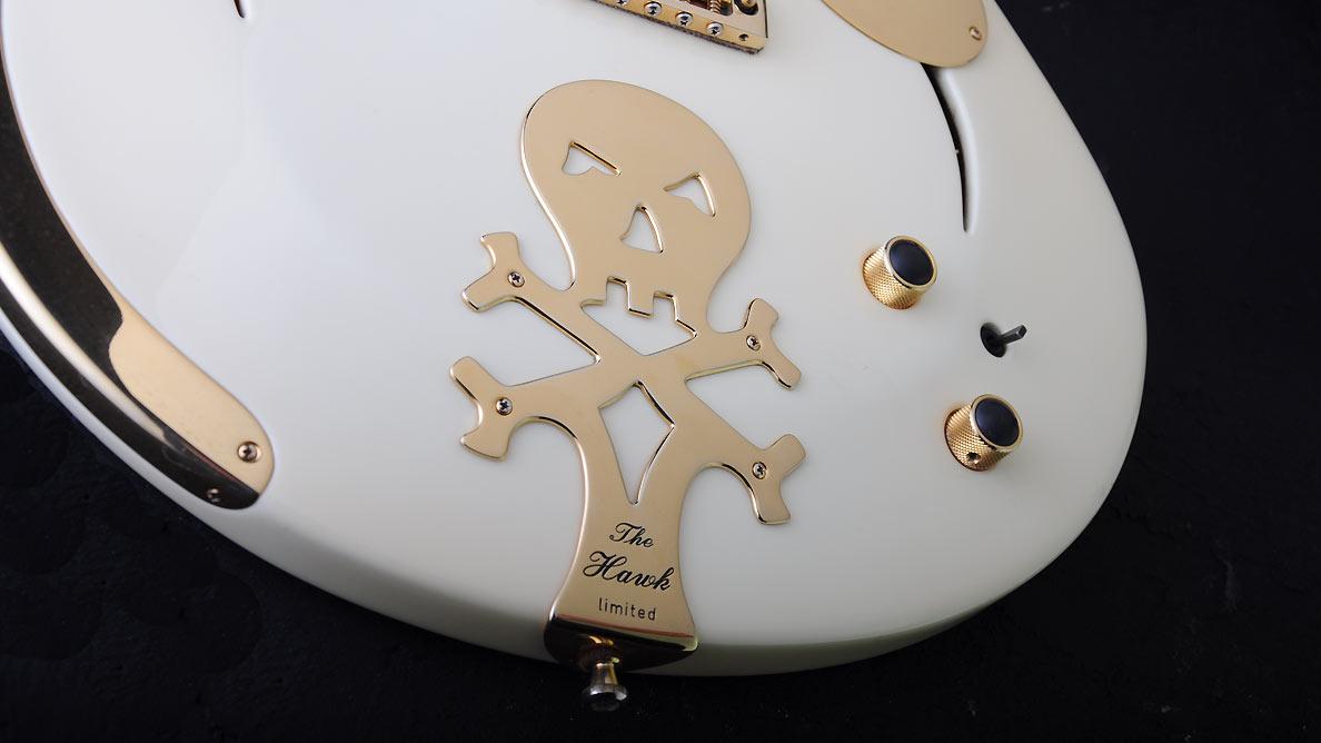 Farin Urlaub Custom Guitar Gallery - White Hawk - Scull